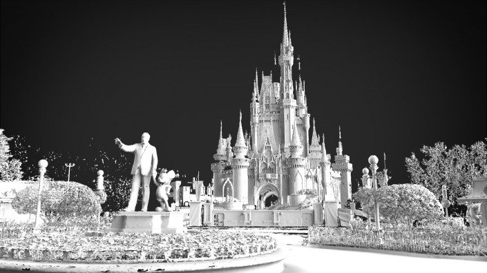 location and environment 3D scanning Cinderella's Castle
