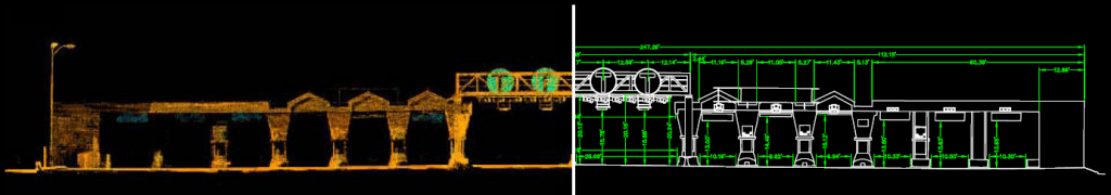 3D Laser Scan of Toll Road Plaza