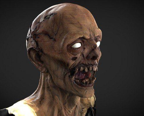 Zombie Head 3D Scan