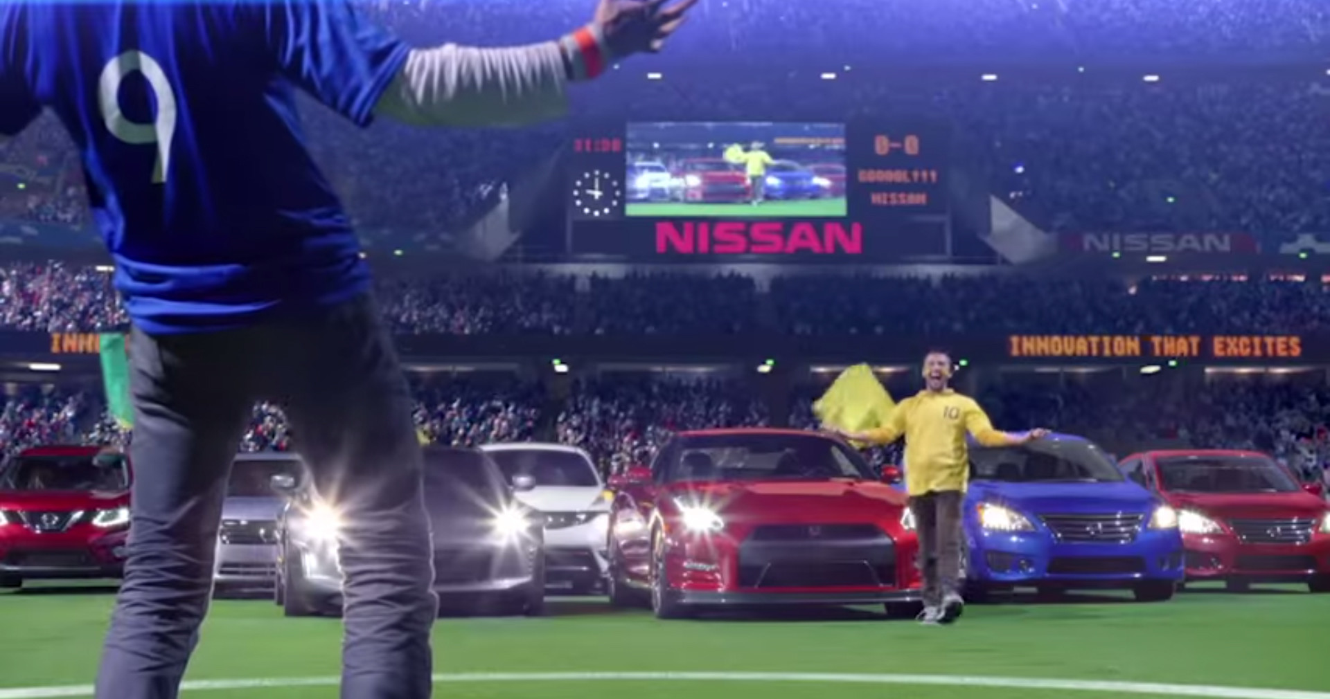 world cup Nissan Face Off Commercial 3d laser scanning