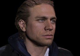 Charlie Hunnam Sons of Anarchy 3D Scan with textures render