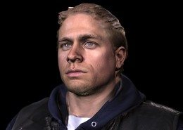 Charlie Hunnam Sons of Anarchy 3D Scan with textures