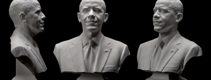 3D scan and print of President Obama