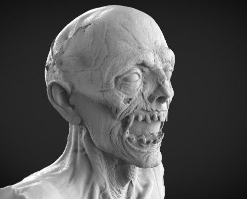 fine art scanning Zombie Head 3D Scan