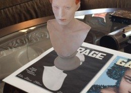 3D scan of Karen Elson Augmented Reality app for Garage Magazine