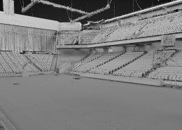 LiDAR Scan of the Galen Center used for VFX Crowd Population