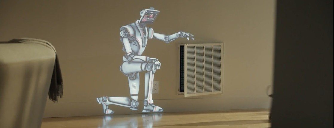 projection mapping Lennox Robot