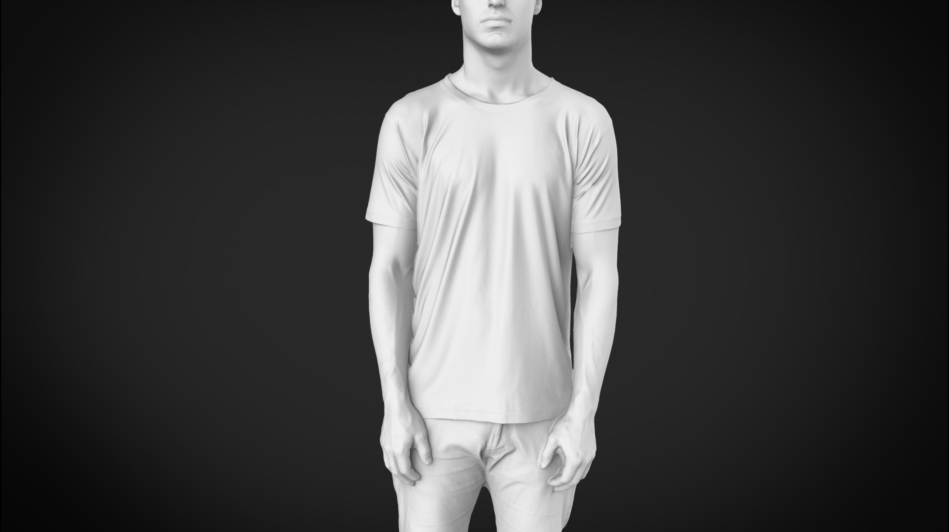 3D Modeling Society6 male t-shirt