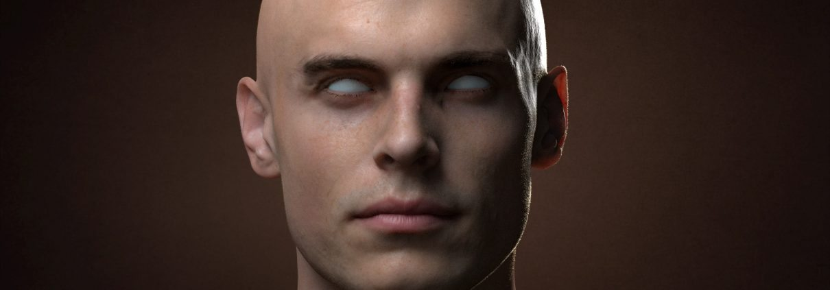 Male 3D Scan with Hyper realistic subdermal skin shaders